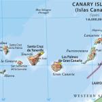 Мапа Канарських островів
