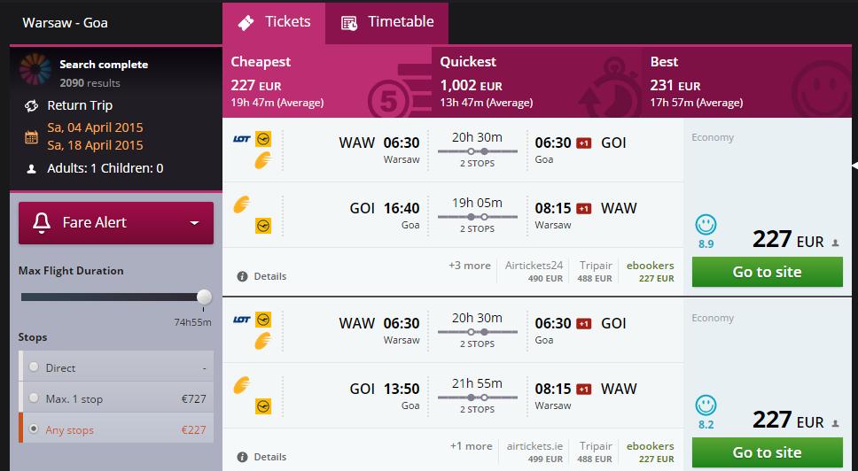 Warsaw to Goa 227
