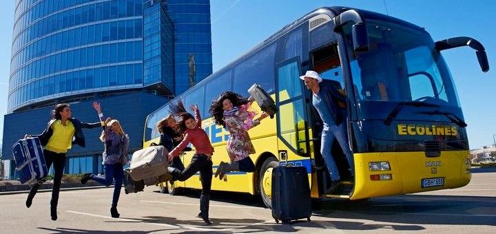 Ecolines: -60% на рейсы из Одессы, Запорожья, Днепра, Харькова и Полтавы в Прагу, Вильнюс и Варшаву от 374 грн! -