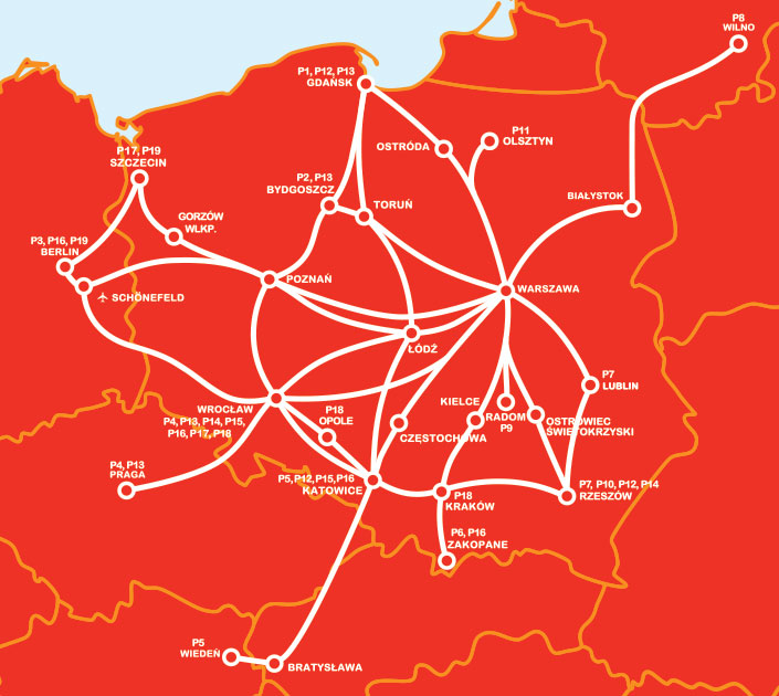 польський бус карта