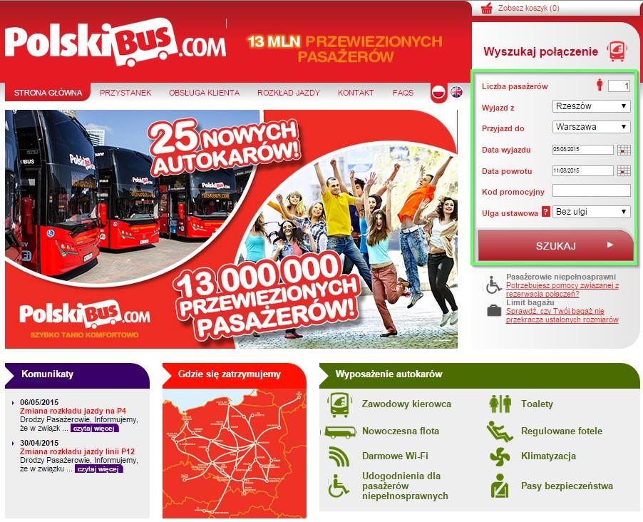 як купити квитки polskibus головне