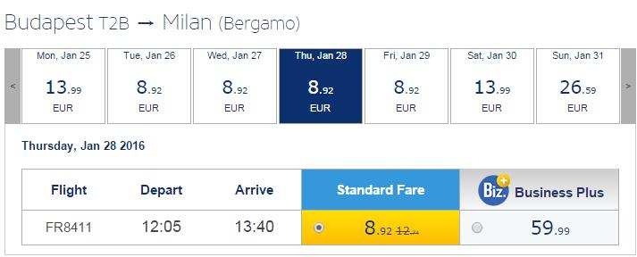 дешеві авіаквитки мілан