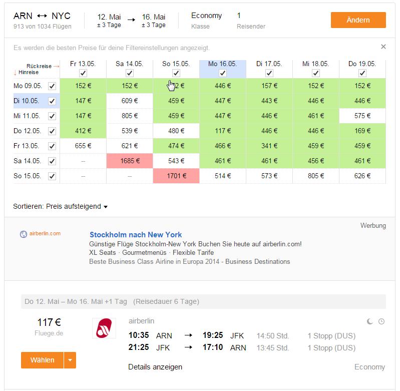 Хит! Авиабилеты в Нью-Йорк из Стокгольма за 130$ в две стороны! (неактуально) - Авиабилеты