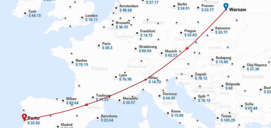 Новый рейс Wizz Air: Варшава - Порту!