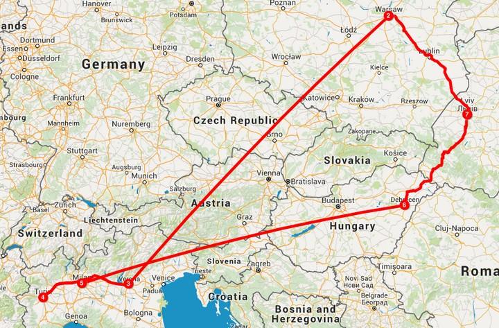 Львов - Варшава ✈ Верона - Турин - Милан ✈ Дебрецен - Львов - всего за 52€! - Авиабилеты