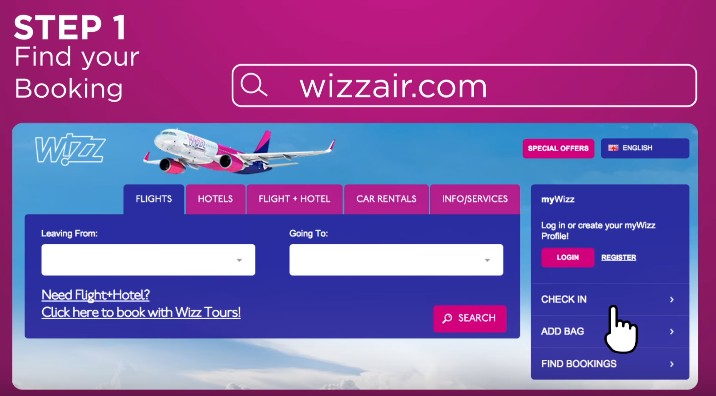 wizz air як зробити чекін
