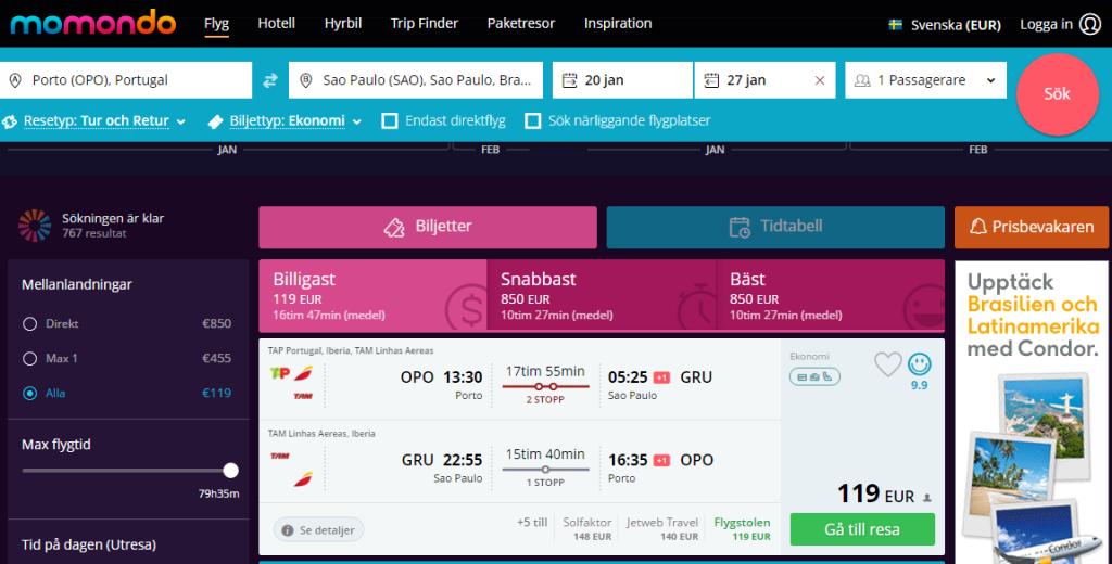 Авиабилеты из Европы в Бразилию от 140€ в две стороны! -