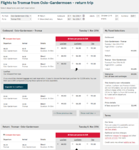 2016-05-12 14_25_46-Flights to Tromsø from Oslo-Gardermoen - return trip - Norwegian.com