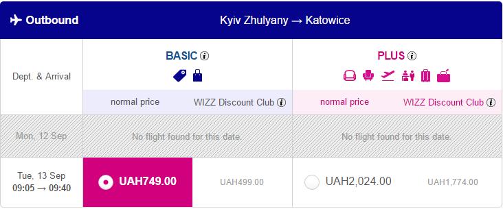 авіаквитки Київ - Катовіце