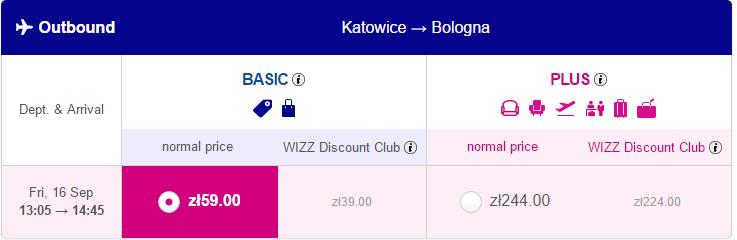 авіаквитки Катовіце - Болонья