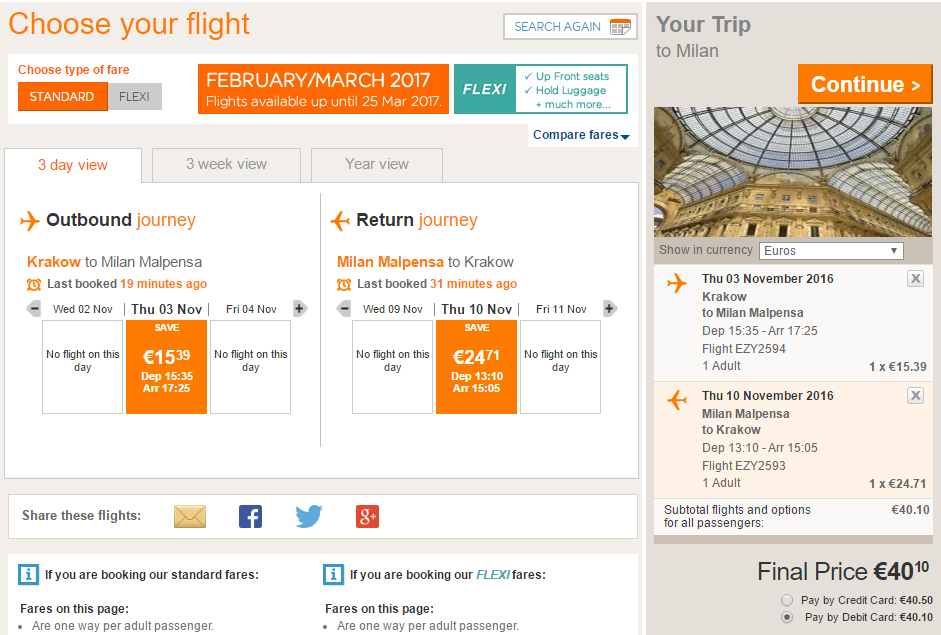 Распродажа в EasyJet и Ryanair: авиабилеты со скидкой 20%!