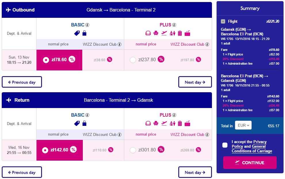 Wizz Air: 20% скидки для всех на рейсы из Польши! -