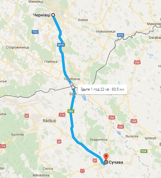 2016-08-23 02_01_59-Від Чернівці до Сучава, Румунія – Карти Google