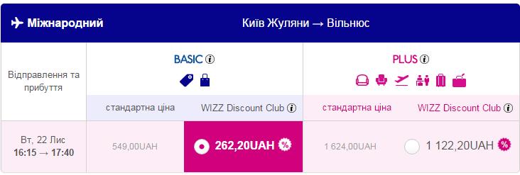 Дешеві авіаквитки Київ – Вільнюс