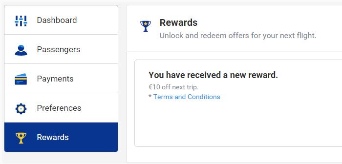 Ryanair дарит 10€ новым пользователям за регистрацию на сайте!
