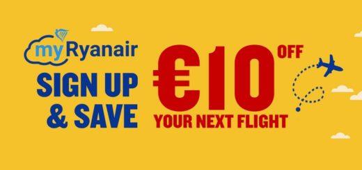 myryanair знижка 10 євро
