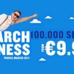 Ryanair: 100000 авиабилетов от 9€! —