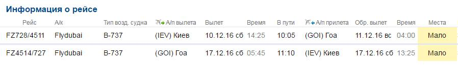 Дешевый тур на Гоа из Киева: авиабилеты + 7 ночей - 268$!