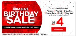 AirAsia: авиабилеты от 4$ в одну сторону! -