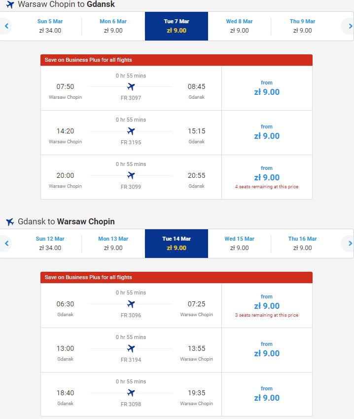 Ryanair Flights & Destinations