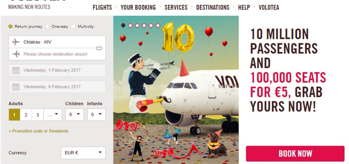 Volotea: 100000 авиабилетов по Европе за 5€! -