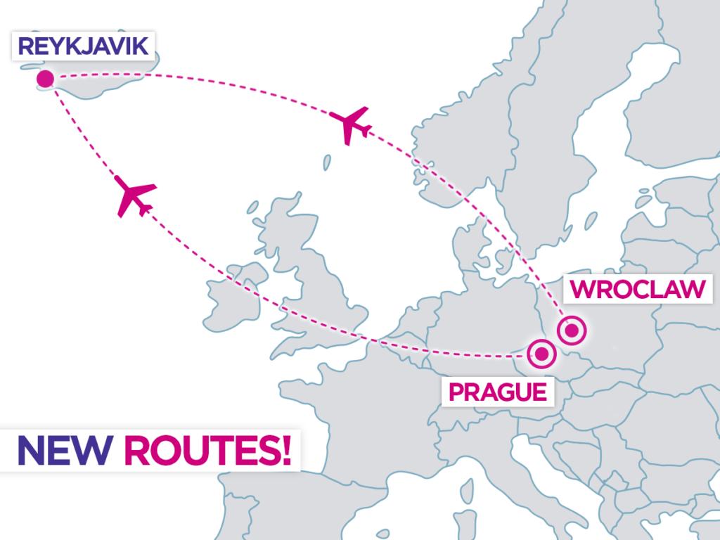 Новые рейсы Wizz Air в Исландию из Вроцлава и Праги!