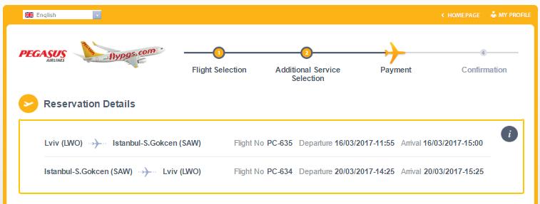 Pegasus: 50% скидки на рейсы из Украины! В Турцию от 44$ в две стороны!