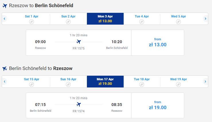 Приклад бронювання дешевих авіаквитків Раянейр з Варшави 88d9c6515829f