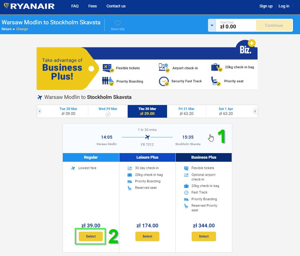 як купити інструкція Ryanair