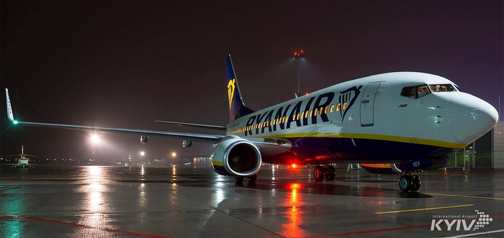 Впервые самолет Ryanair совершил посадку в Украине! -