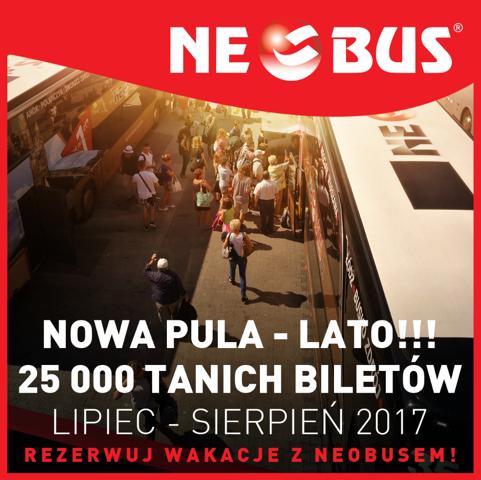 Neobus: билеты по Польше от 1 злотого на рейсы летом!