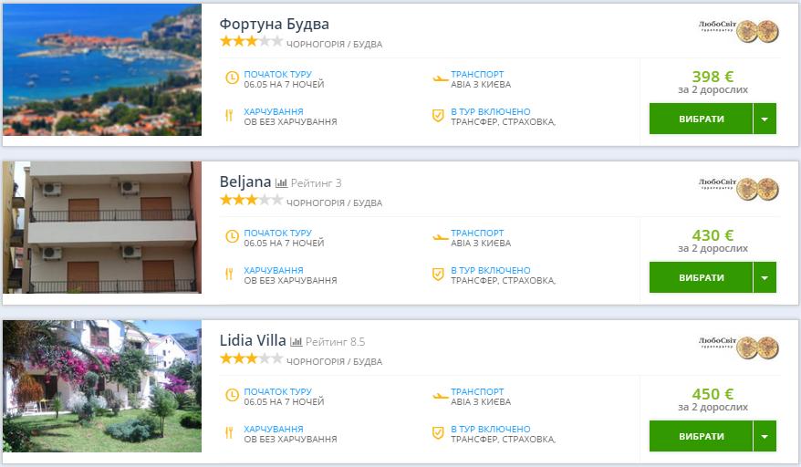 Дешевые туры в Черногорию: перелет + 7 ночей проживание - за 198€!