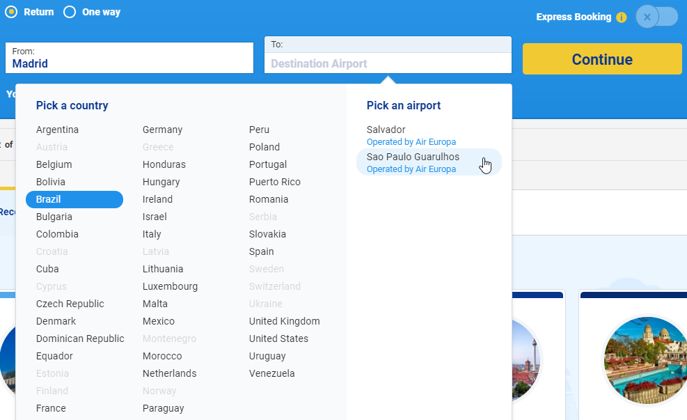 Air europa official website autos post for Sites with cheap flights