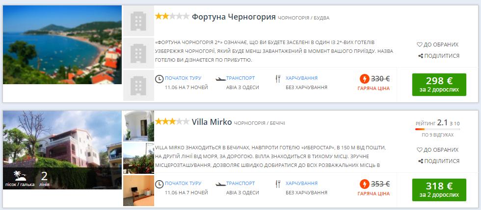 Туры в Черногорию: перелет + 7 ночей проживание - все вместе от 149€ с человека! -