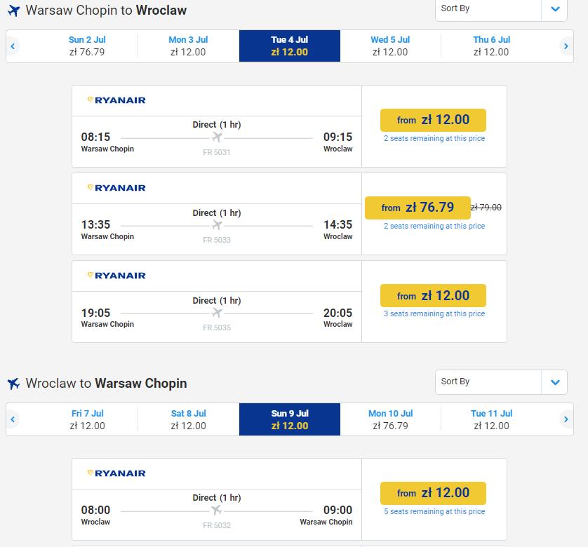 З Варшави Ryanair також виконує багато рейсів по всій Європі. Найдешевші  квитки зручно шукати на kiwi.com  ad6117958d220
