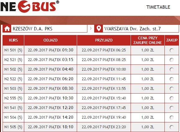Neobus: билеты по Польше от 1 злотого на рейсы в сентябре - октябре! -