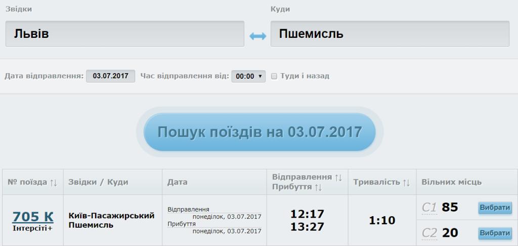 київ перемишль онлайн