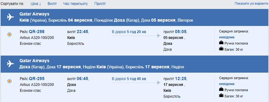 Qatar Airways полетит из Киева уже с 28 августа 2017 года!