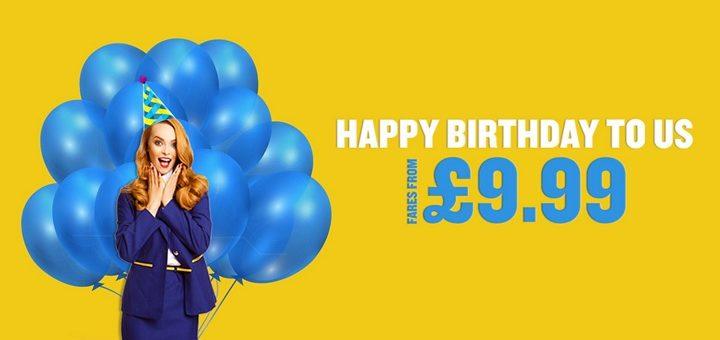 Ryanair празднует День рождения! Авиабилеты от €9!