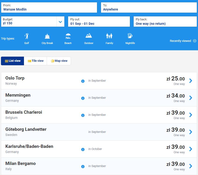 Ryanair: 2000000 авиабилетов со скидкой до 20%! -