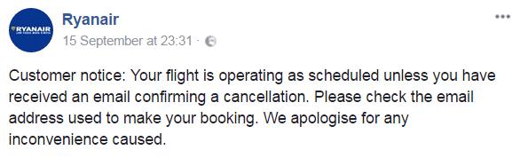 Ryanair отменяет почти 2000 рейсов до конца октября! -