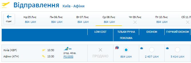 Авиабилеты Киев - Афины от 864 грн (€26 в одну сторону!