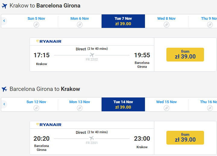 Супер распродажа Ryanair! Авиабилеты по Европе от €4! -