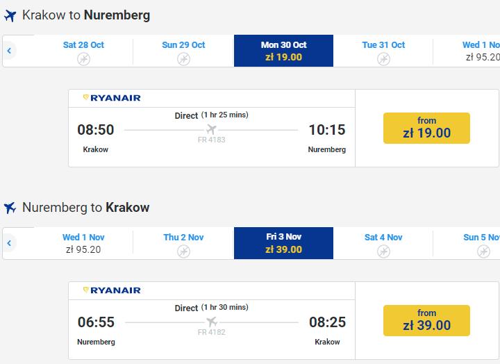 Ryanair: 2 миллиона авиабилетов со скидкой 20%! Из Польши от €4 в одну сторону! -
