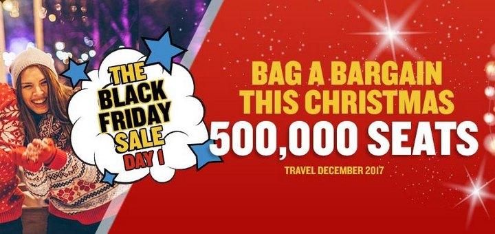 Ryanair: неделя распродаж по случаю Черной п'пятницы! Сегодня 500000 билетов со скидкой! -