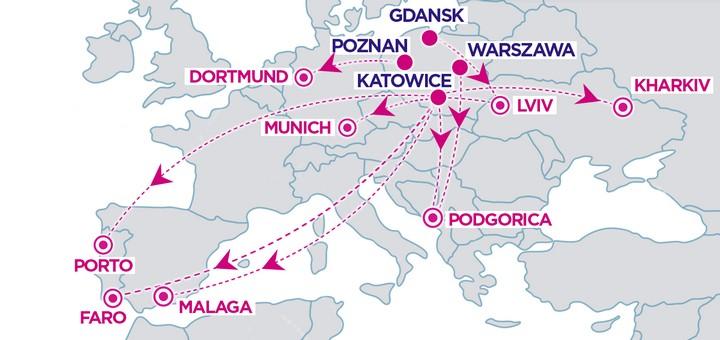 Wizz Air анонсировал 10 новых рейсов из Польши в Португалию, Испанию, Украину и другие страны! -
