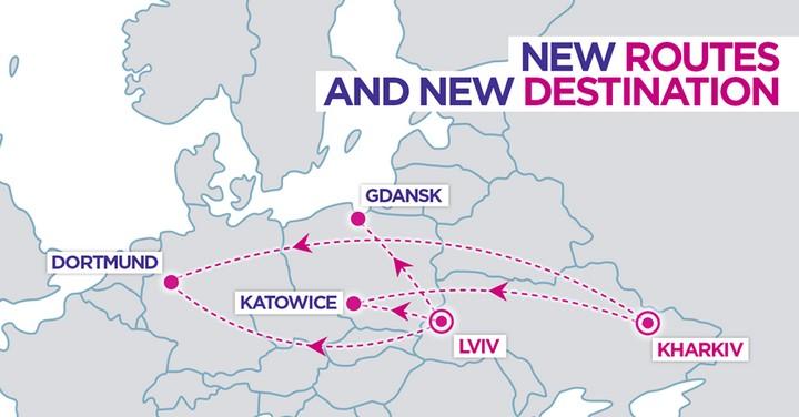 Супер! Wizz Air откроет три новых рейса из Львова и два из Харькова! -