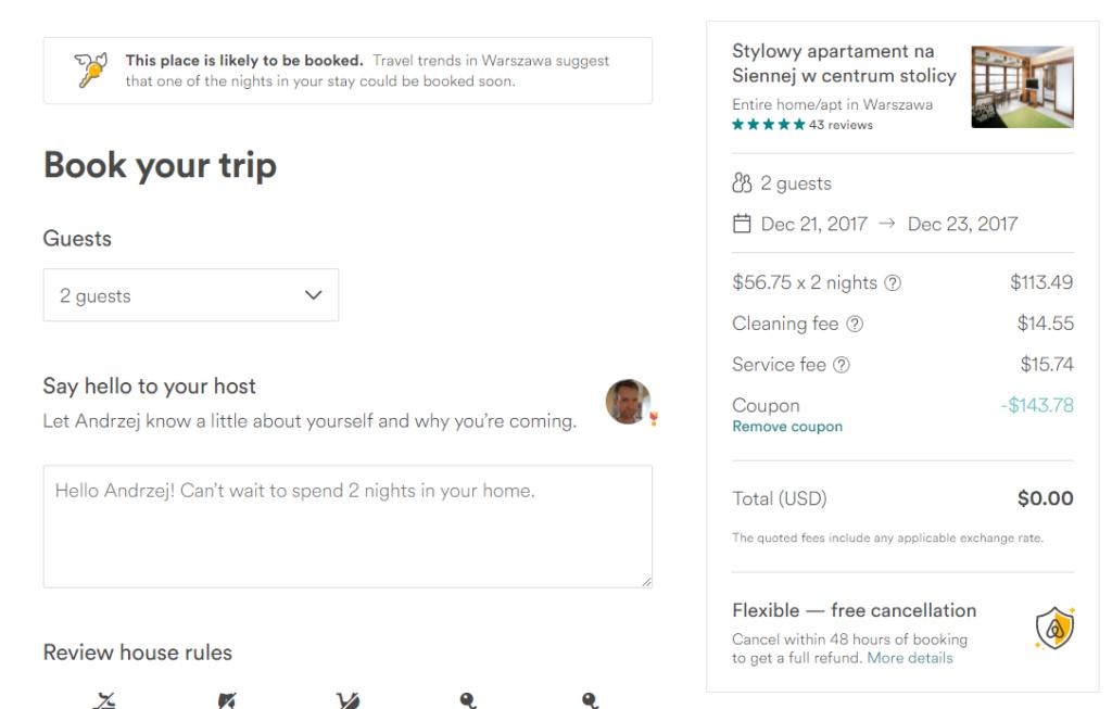 Airbnb: код на $200 скидки на любое бронирование без минимальной суммы! (неактуально) -