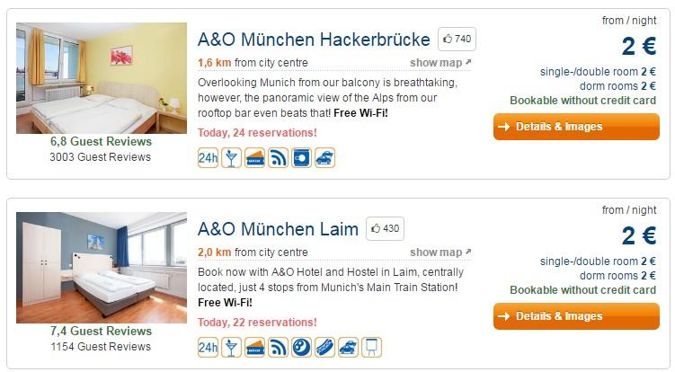 A&O Hotels: номера в гостиницах Европы от €2 за ночь! -