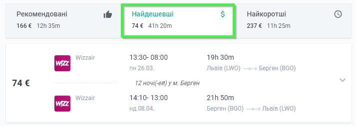 Из Львова или Киева в Берген и Гданьск от €74 за 4 авиабилеты!
